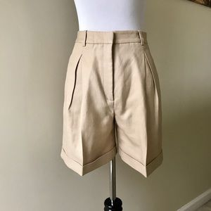 Authentic Versace High Waist Pleated Cuffed Shorts